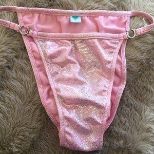 NWOT Venus Pink Metallic Bikini Bottom
